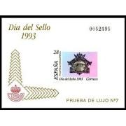España Spain Prueba de lujo 28 1993 Día del Sello 93