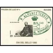 España Spain Prueba de lujo 20 1990 Sereix 90 Día del Sello