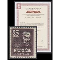 España Spain 1090 1951 Viaje del Caudillo a Canarias Falla MNH Cert Comex