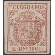 España Spain Telégrafos 1 1864 Escudo de España  MNH