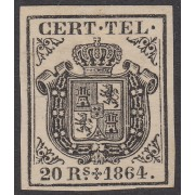 España Spain Telégrafos 4 1864 Escudo de España  MH