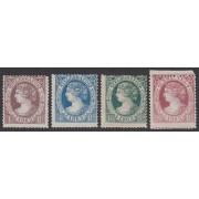 España Spain Telégrafos 9/12 1865 Isabel II Primeros sellos dentados MH