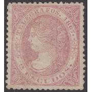 España Spain Telégrafos 20 1867 Isabel II  MH