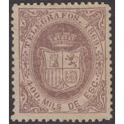 España Spain Telégrafos 30 1869 Escudo de España  MNH