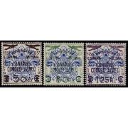 España Spain Canarias 31/33 1937 Sellos benéficos habilitados MH