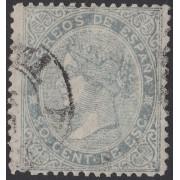 España Spain 92F 1874  Falso Alegoría de la Justicia Usado