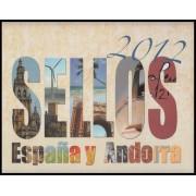Libro Album Oficial de Sellos España y Andorra Año Completo 2012 Incluye Pruebas de Lujo