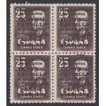 España Spain 1083  1950 Bl.4  Viaje del caudillo Canarias Sin número control MNH