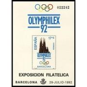 España Spain Prueba de lujo 26 1992 Olimphilex 92 Sagrada Familia
