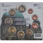 España Spain 2017 Cartera Oficial Euros + 2€ Conm. Naranco  Emisión Berlín FNMT Word Money Fair
