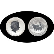 Australia 1/2 onza 2015 Year of the Goat cabra Proof Plata