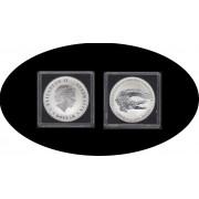Australia  Cocodrilo Saltawater Cocrodile  1 onza 2014 Proof Plata Silver