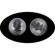 Canadá Canada Onza de plata 5 $ 2015 Maple Leaf Elisabeth II