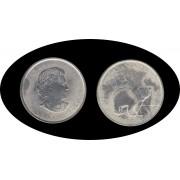 Canadá Canada Onza de plata 5 $ 2011 Oso Bear Leaf Elisabeth II