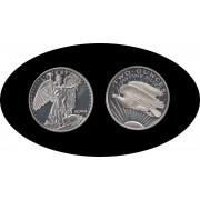 Estados unidos United States  Medalla 2 Onza de plata  Liberty