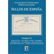 Catálogo España Edifil Especializado Tomo VI Barcelona Asturias y León Canarias