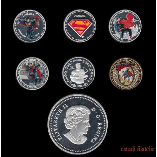 Canada 2013 Lote Medallas conmemorativas 75º Av. Superman