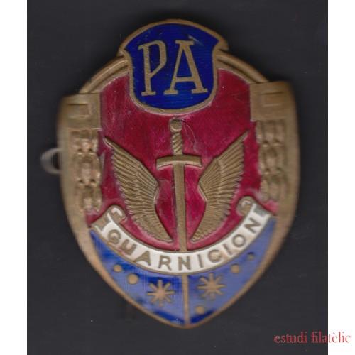 Placa Policía Armada Guarnición