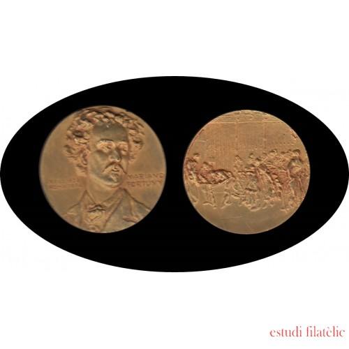 Medalla Mariano Fortuny Reus 1838 - Roma 1874 F. Calico