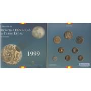 España Spain Cartera Oficial Pesetas 1999 Juan Carlos I FNMT