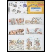 España Spain Sobres Oficiales 1/24 1999 Escenas del Quijote