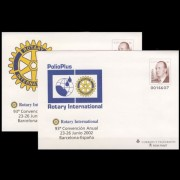 Sobres Enteros Postales 80 a/d Rotary 2002