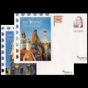 Sobres Enteros Postales 101/102 Filabarna Gaudí 2005
