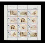 España Spain Minipliego 69 2000 Exposición Mundial Filatelia España Caballos cartujanos Horse