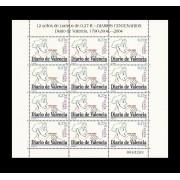 España Spain Minipliego 85 2004 Diario de Valencia Press