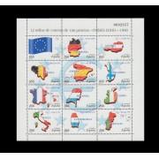 España Spain Minipliego 63 Países del Euro 1999