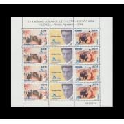 España Spain Minipliego 83 2004 Exposición Mundial Filatelia Toros Enrique Ponce