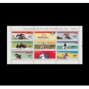 España Spain Minipliego 78 2002 bJuegos Ecuestres Mundiales Caballos Horse