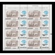 España Spain Minipliego 2 1983 Día del Sello  Carro  de correo romano