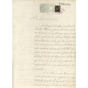 España Spain Variedad 40 ct Papel Sellado Documento 1899 Fiscal