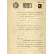 España Sapin Variedad 30 ct Imp. Guerra Papel Sellado 1899 Fiscal