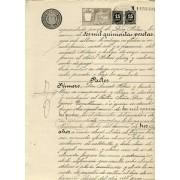 España Spain Variedad 238 1898 Pareja Papel Sellado Notarial Fiscal