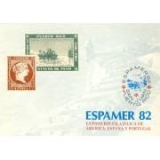España Spain Hojitas Recuerdo 110 1982  FNMT Espamer 1982 Colón
