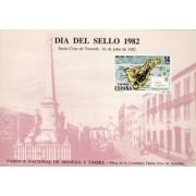 España Spain Hojitas Recuerdo 108 1982  FNMT Día del sello 1982