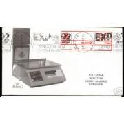<div><strong>ATMs Etiqueta Postal Conmemorativa N</strong><strong>º 4 en sobre rara<br /> </strong></div>