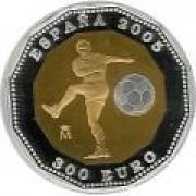 España Spain monedas Euros conmemorativos 2005 Copa Mundial de la FIFA Alemania 2006 300 Euros Oro-Plata