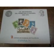 España Spain Hojitas Recuerdo 30 1975 FNMT 125 Aniversario del Primer sello español
