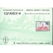 España Spain Hojitas Recuerdo 100 1981 FNMT Espamer 81 Buenos Aires