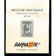 España Spain Hojitas Recuerdo 103 1981 FNMT Barnafil 81Montserrat