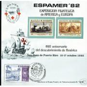 España Spain Hojitas Recuerdo 109 1982 FNMT Colón Espamer 82