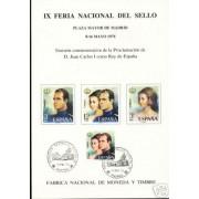 España Spain Hojitas Recuerdo 44 1976 FNMT FNS Juan Carlos I Sofía