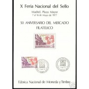 España Spain Hojitas Recuerdo 51 1977 FNMT FNS FNMT Plaza Mayor