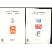 España Spain Hojitas Recuerdo 53/54 1977 FNMT Colón Exposición Filatélica de América y Europa