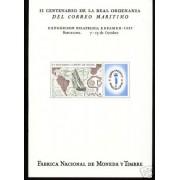 España Spain Hojitas Recuerdo 57 1977 FNMT Espamer 77 Colón