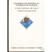 España Spain Hojitas Recuerdo 64 1978 FNMT Consejo de Europa 78