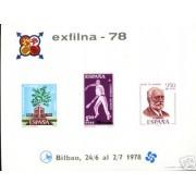 España Spain Hojitas Recuerdo 65 1978 FNMT Pelotari Guernica